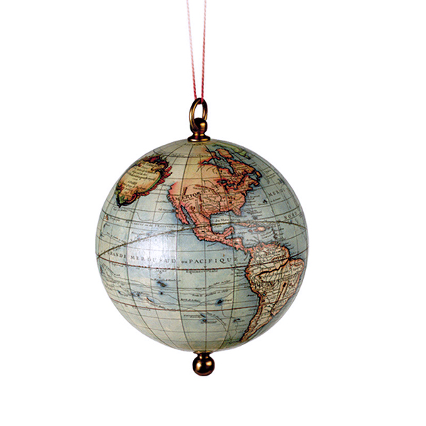 Map Of Uk On Globe.Buy Globe Bauble Online The British Library Shop