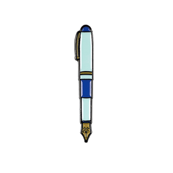 Fountain Pen Enamel Pin