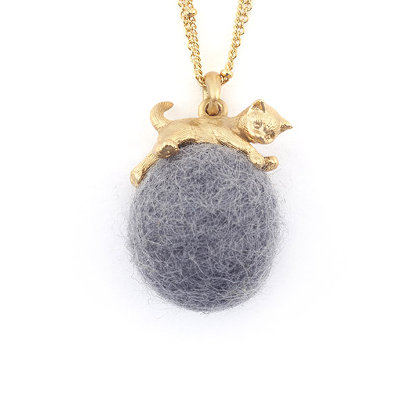 Kitten Wool Ball Necklace