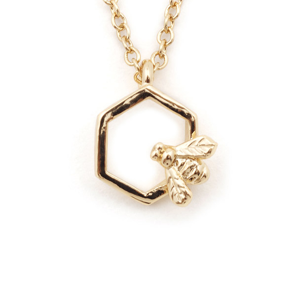 Hexagon Bee Mini Pendant