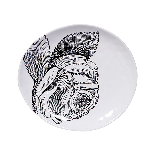 Small Rose Plate