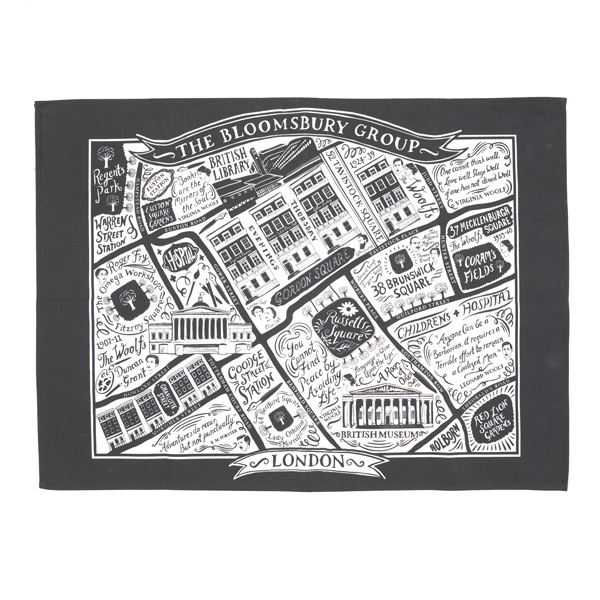 1ce479a01 Buy Literary London Tea Towel Online - The British Library Shop