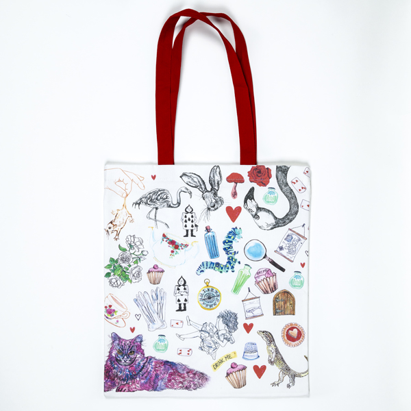 Alice pattern tote front