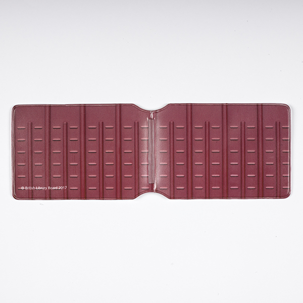 Red Pillar Card Holder