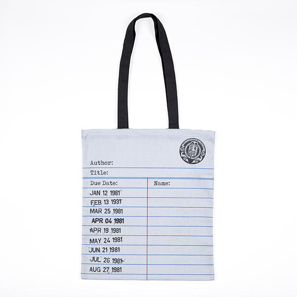Love Libraries Tote Bag Grey