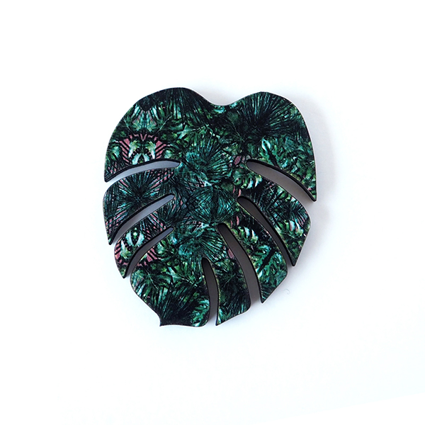 Monstera Brooch