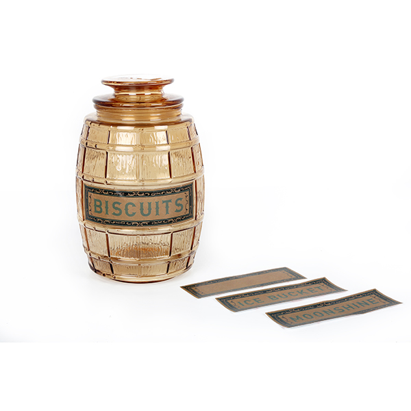 Barrel Glass Jar
