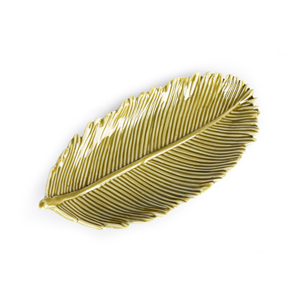 Green Palm Leaf Plate