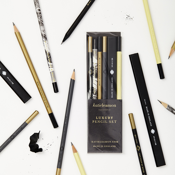 Black and Gold Pencil Set