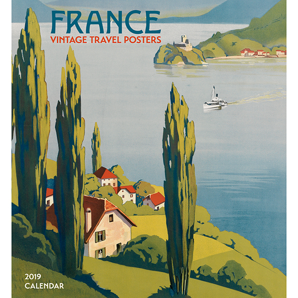 France: Vintage Travel Posters Wall Calendar 2019