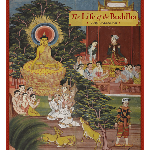 The Life of the Buddha Wall Calendar 2019