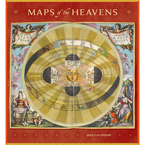 Maps of the Heavens Wall Calendar 2019