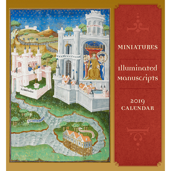Miniatures: Illuminated Manuscripts Mini Wall Calendar 2019