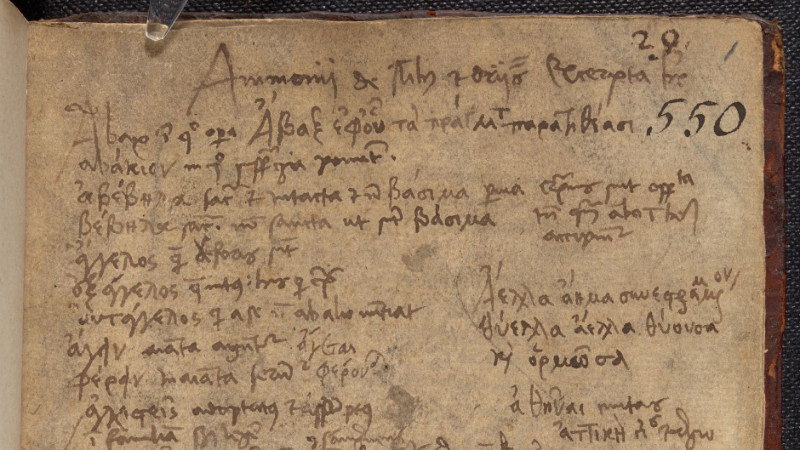 Extracts from Ps-Ammonius in the notebook of Johannes Cuno