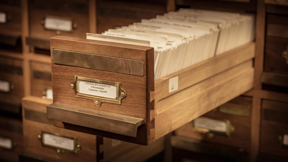 Chinese Card Catalogue Drawer