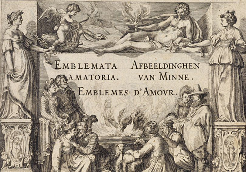 Emblemata Amatoria by P. Hooft. Amsterdam, 1611