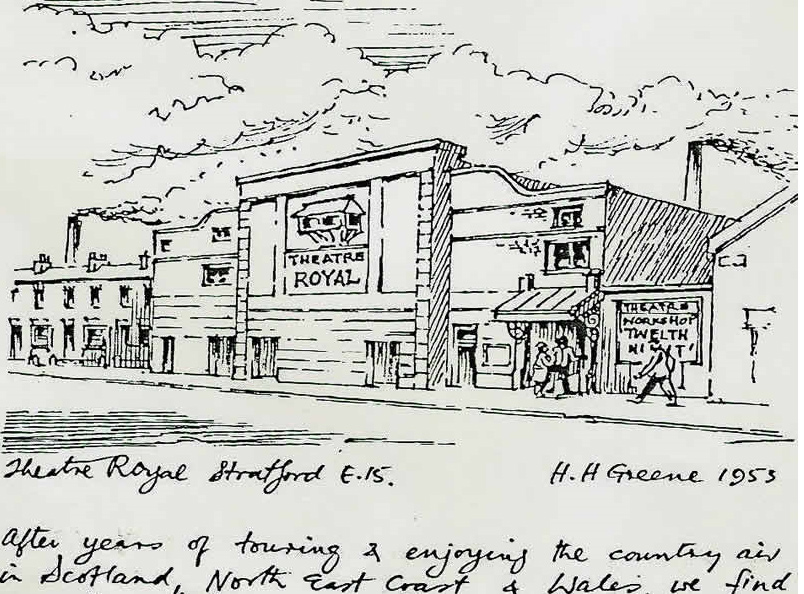 Harry Green sketch of Theatre Royal, Stratford
