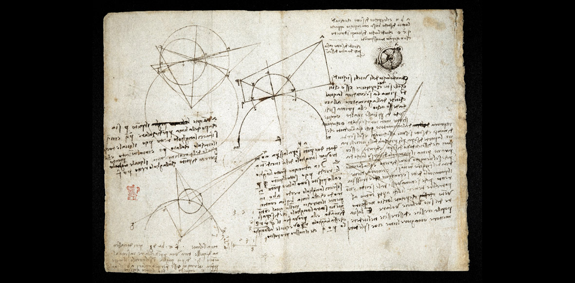 Leonardo da Vinci's diagrams, from the 'Codex Arundel'