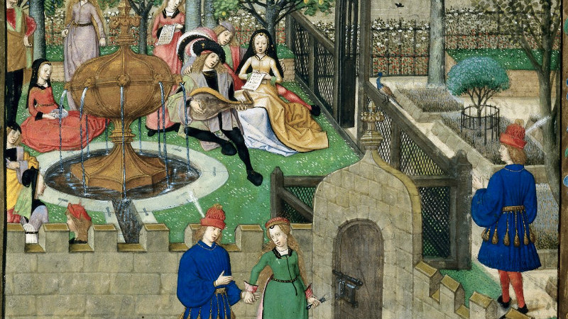 The Garden of Pleasure, in Roman de la Rose