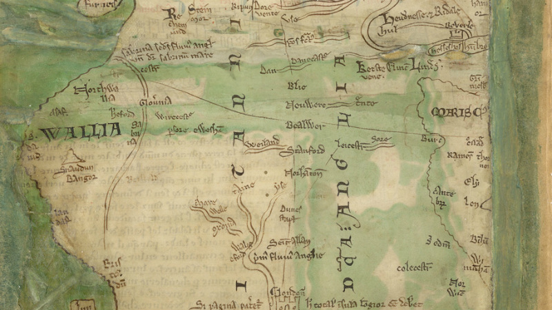 Map Of England 6th Century.Royal Manuscripts The British Library