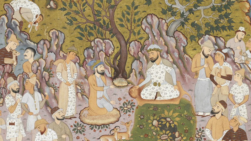 Gayumars and his court from the Shāhnamah 'Book of Kings' by Firdawsī