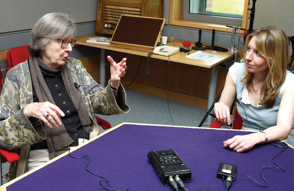 Sarah O'Reilly interviewing Dame Penelope Lively for the National Life Stories project Authors' Lives
