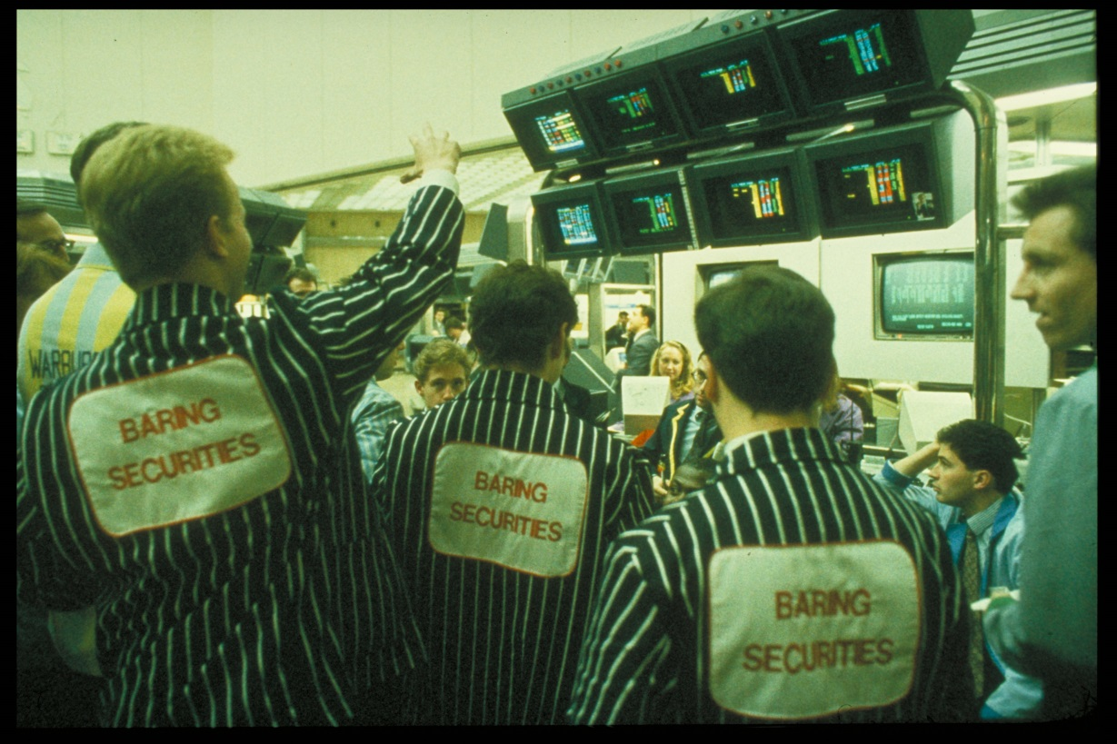 Photograph taken inside Baring Securities. Image copyright The Baring Archive.
