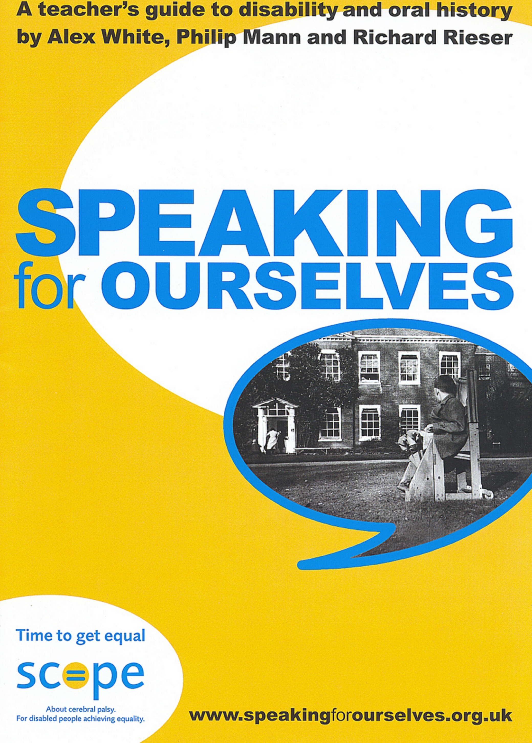 Speaking for ourselves leaflet. Image courtesy of Scope.