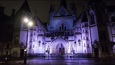 Photograph of the Royal Courts of Justice. Image courtesy of James Petts, Wikipedia Commons