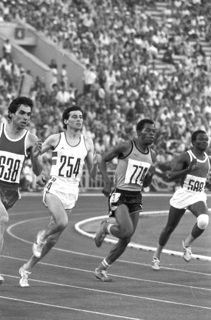 Photograph of Sebastian Coe, 800m silver medalist of the 1980 Olympics.