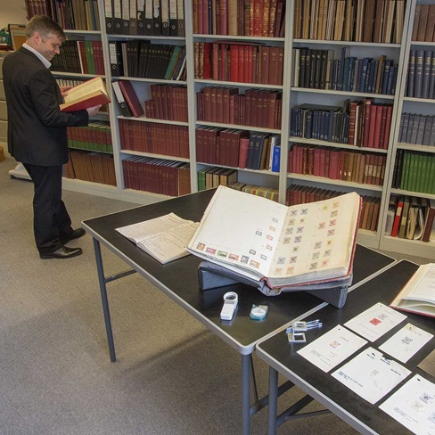The Philatelic Reading Room in the British Library