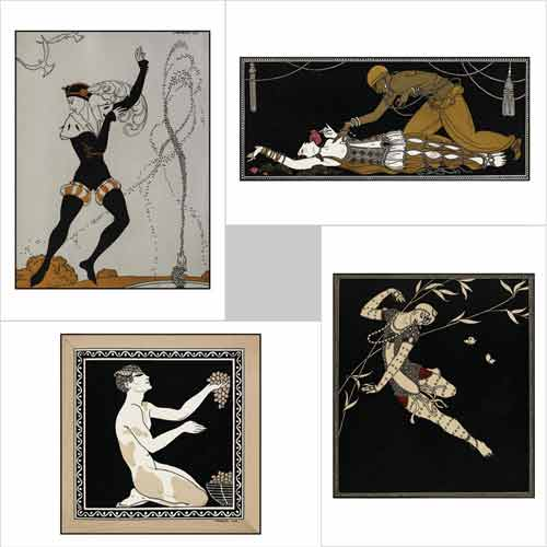 Designs for Nijinsky notecards