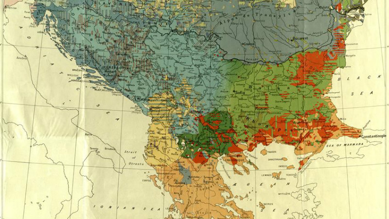 The Balkans map