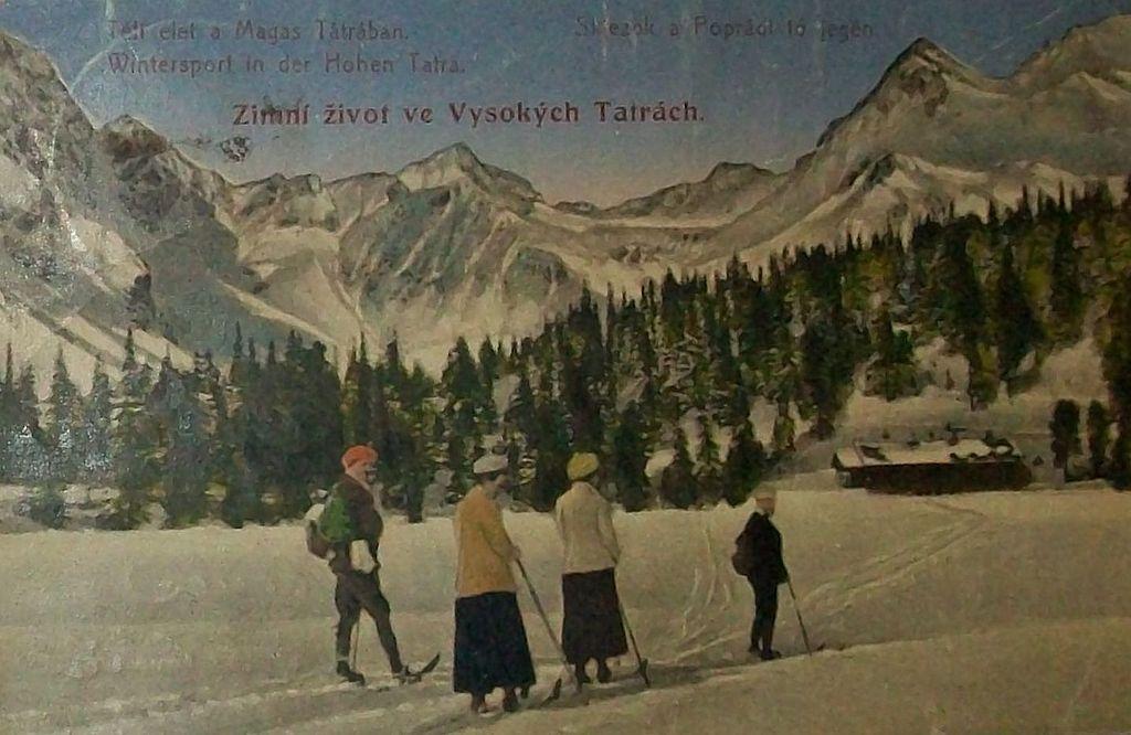 Slovenčina: Pohľadnica Vysokých Tatier z roku 1922