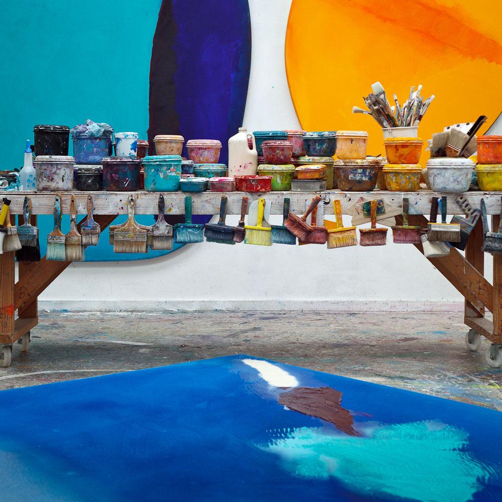 Materials, studio of Trevor Bell. Photograph © Steve Tanner