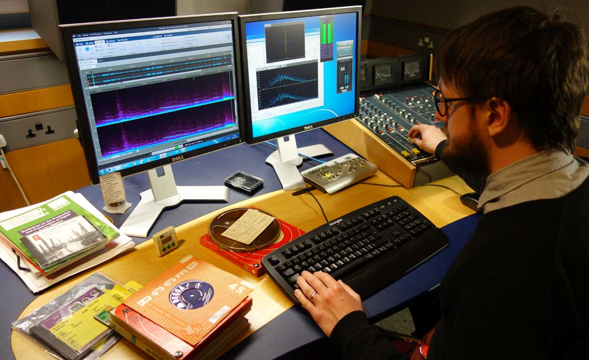 Image of audio engineer