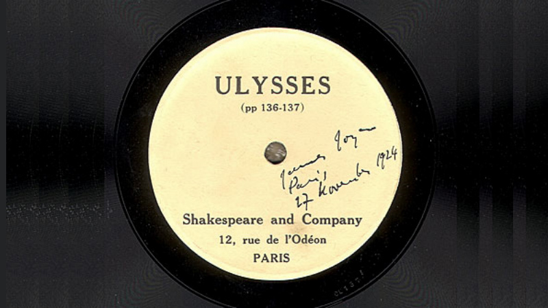 Record of James Joyce Ulysses