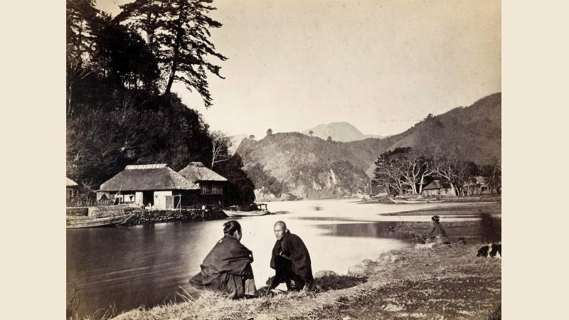 Wilhelm Berger, Village near Yokohama