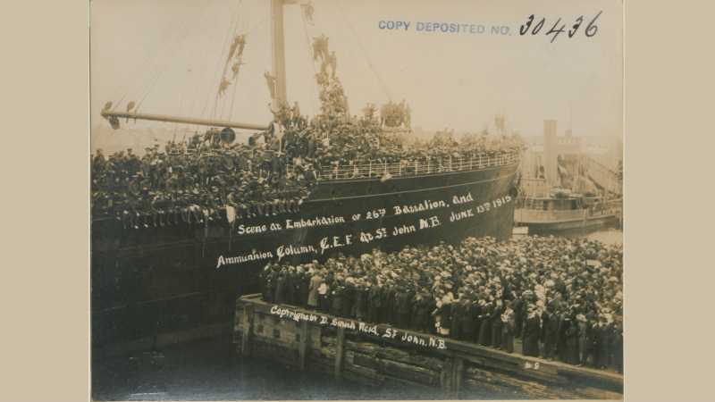 Scene at Embarkation of 26th Battalion and Ammunition Column