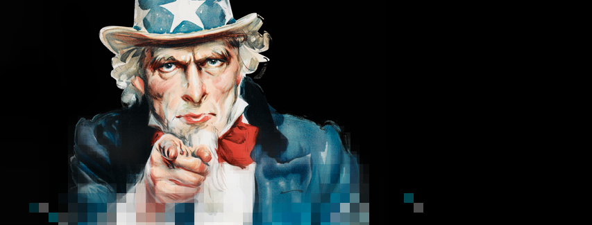 'Uncle Sam' image used for Propaganda exhibiton