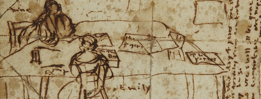 Detail from Emily Brontë's diary paper, 1837