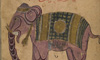 Image of an elephant in an Arabic manuscript