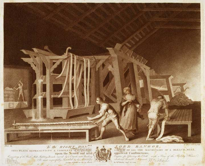 Early industrialisation in textile production, 1783