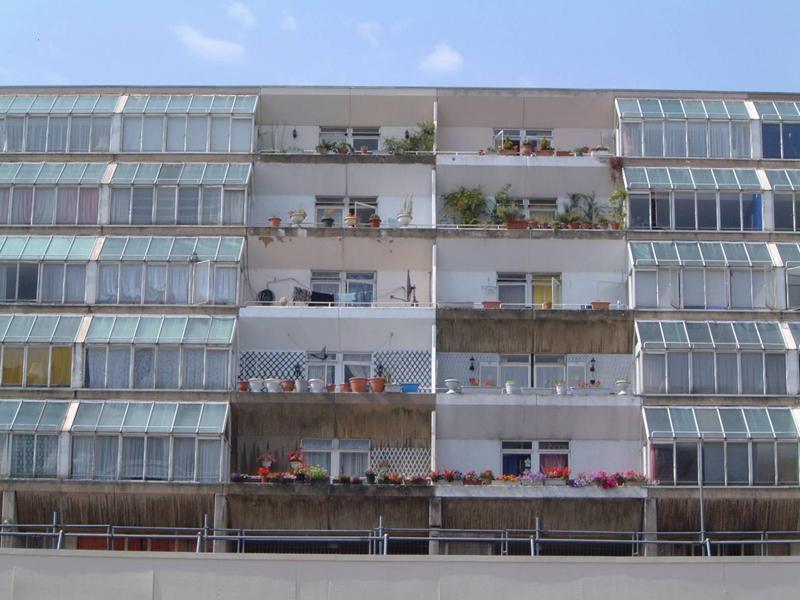 7a811b3720f Balconies of the Brunswick Estate in Camden