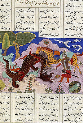 Rostam kills the Dragon