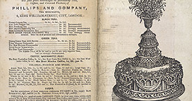 Detail Of Soyer S Shilling Cookery Adver For Wedding Cakes