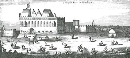 The English Fort at Bombay