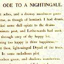 Keats, 'Ode to a Nightingale'