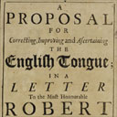 Jonathan Swift, A Proposal...