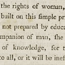 Wollstonecraft's Rights of Woman